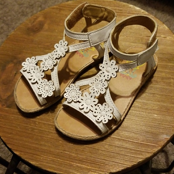 Rachel Shoes Shoes White Sandals With Flowers Poshmark